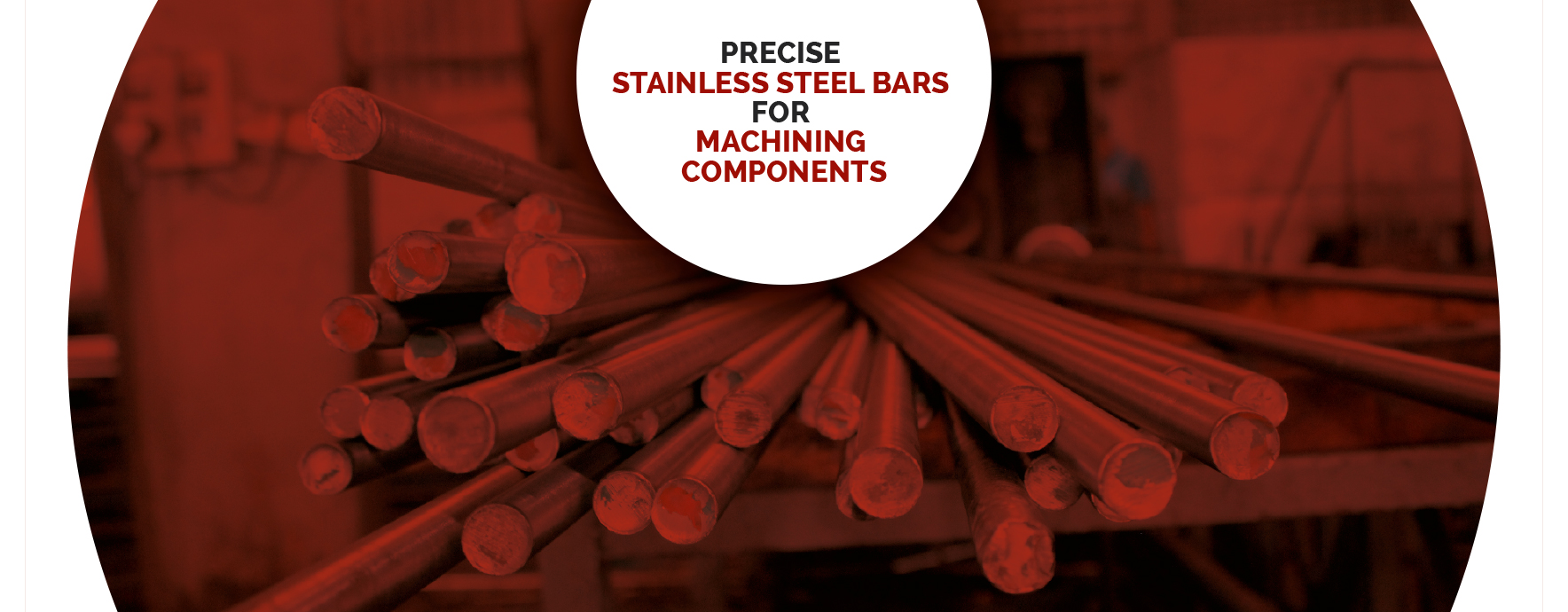 Precise Stainless steel bars for Machining Components Home page slide